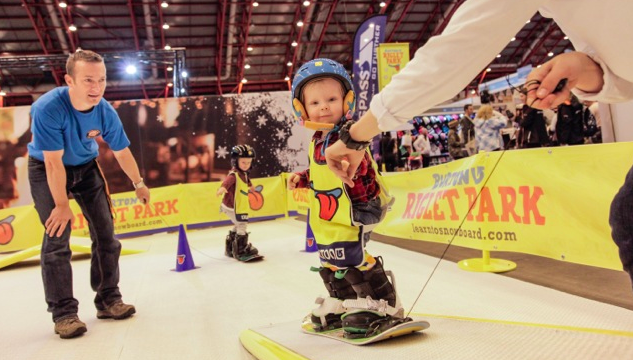 Free Snowboarding Lessons for 3-6 year olds This Half-term Holiday! #burtonriglet