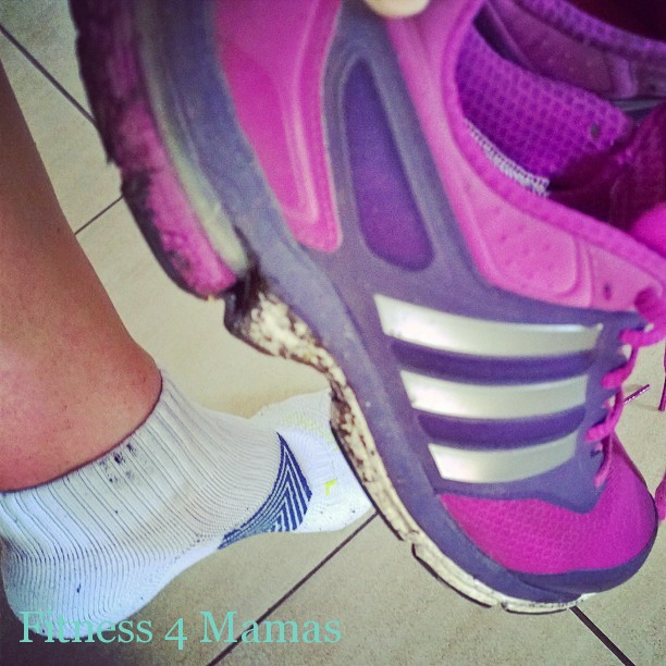 running trainers and socks