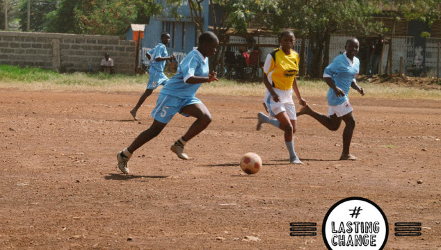 Girls who play football and change their future #lastingchange