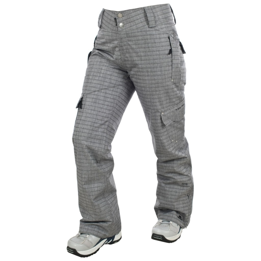 SCATTER WOMENS GREY SNOW PANTS