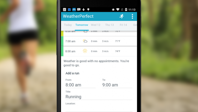 """Plan & Run with """"Weather Perfect App"""" #FitnessTuesday"""