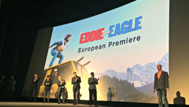At the Eddie the Eagle European Premiere #FitnessTuesday