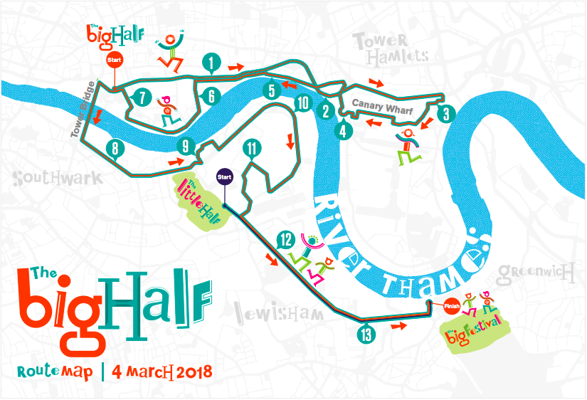 The Big Half London half marathon