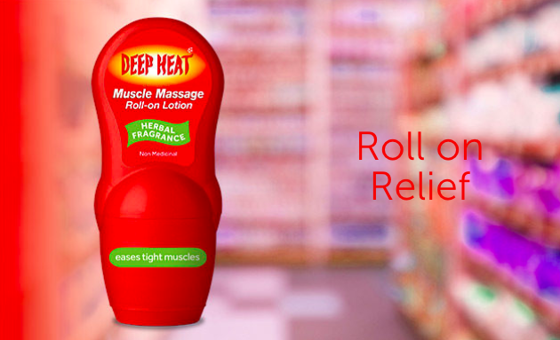 deep heat muscle massage roll-on lotion