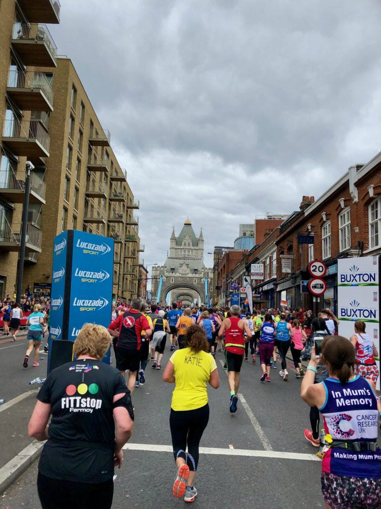 Tower Bridge london marathon 2019