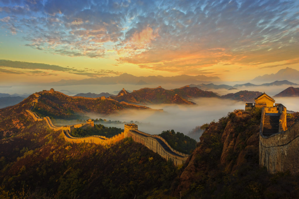 The Great Wall of China in Jinshanling, China