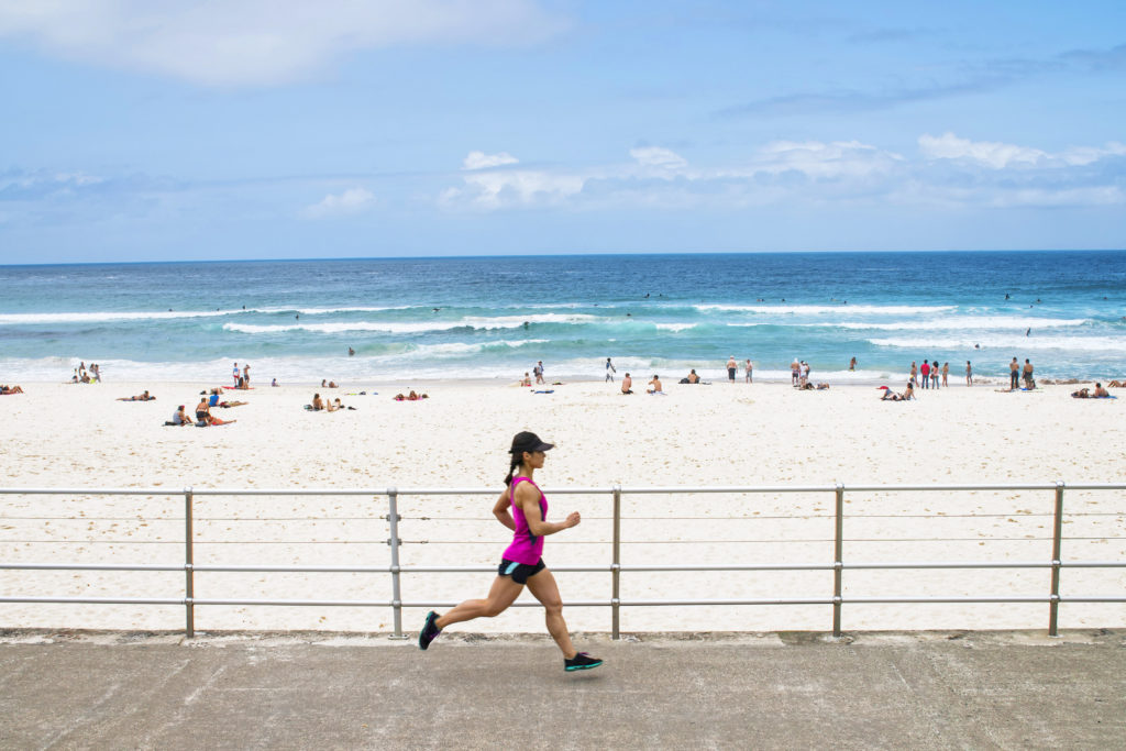 Running at Bondi Beach
