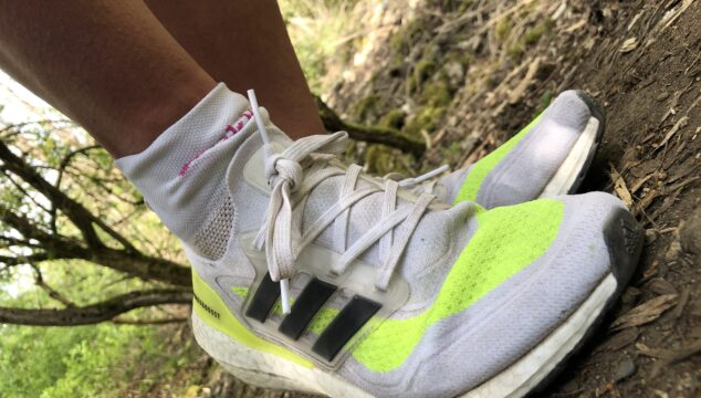 adidas ultraboost 21 shoe in the woods